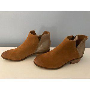 Frye & Co Brown Leather Colorblock Booties Caden 7.5